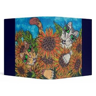Sunflower Cats binder