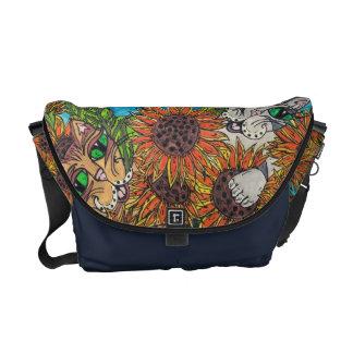 Sunflower Cats Rickshaw messenger bag