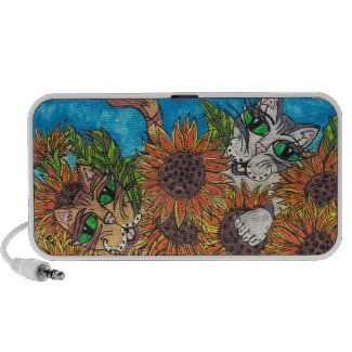 Sunflower Cats doodle