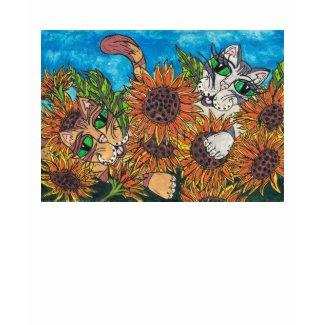 Sunflower Cats shirt