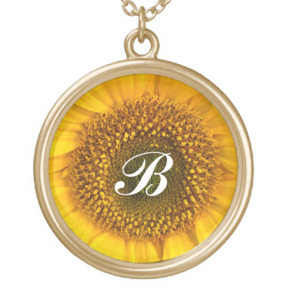 Sunflower Centre  ~ Necklace
