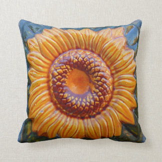 Sunflower ceramic detail pillow