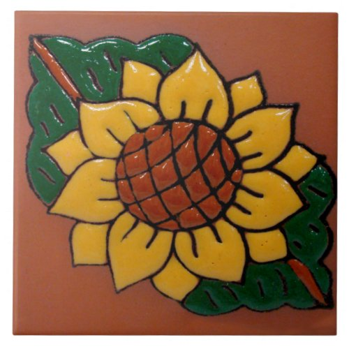 Sunflower Ceramic Photo Tile