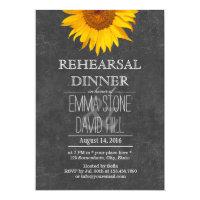 Sunflower Chalkboard Wedding Rehearsal Dinner Card (<em>$2.00</em>)