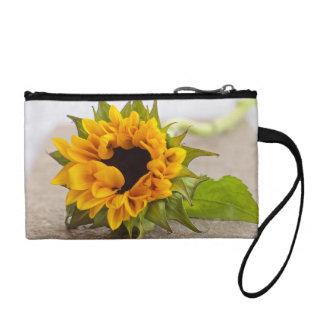 sunflower change purse