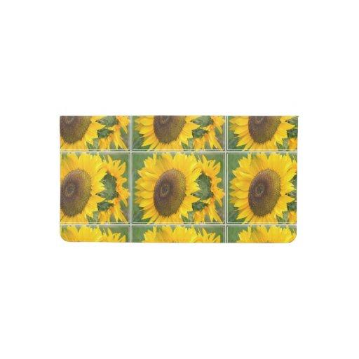 Sunflower Checkbook Cover Zazzle