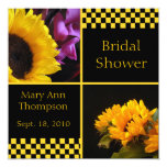 Sunflower & Checkers Bridal Shower Invitations