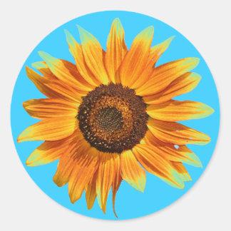 Sunflower Classic Round Sticker