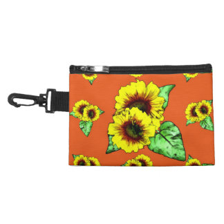 Sunflower Clip On Bag Accessory Bags