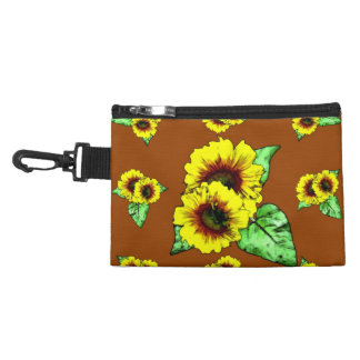 Sunflower Clip On Bag Accessories Bags