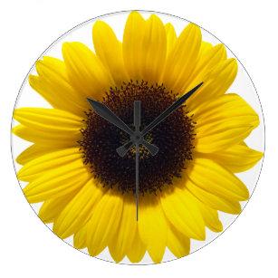 Sunflower wall clocks zazzle - Wanduhr sunflower ...