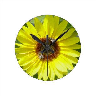 Sunflower Clock, Kitchen Round Clock