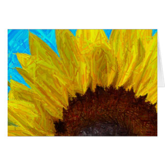 Sunflower close up-card card