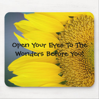 Sunflower Close Up Photograph Mouse Pad