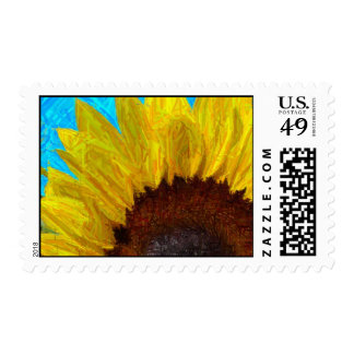 Sunflower close up stamp