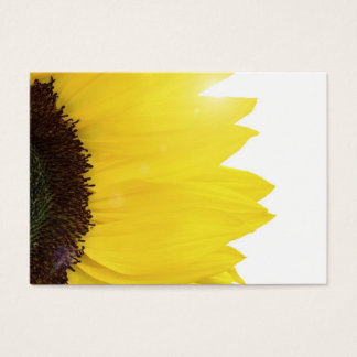 Sunflower close up with sunshine business card