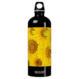 Sunflower Closeup Aluminum Water Bottle