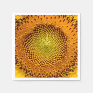 Sunflower Closeup Paper Napkin