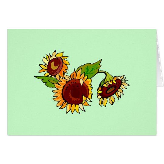 Sunflower Cluster Card