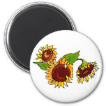 Sunflower Cluster Magnets