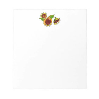Sunflower Cluster Memo Note Pad