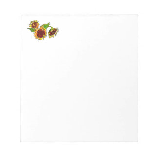 Sunflower Cluster Memo Pad