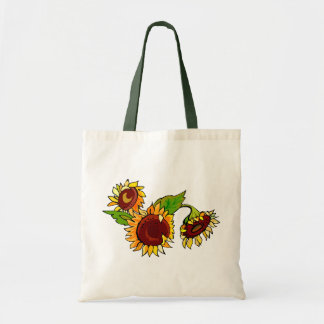 Sunflower Cluster Tote Bag