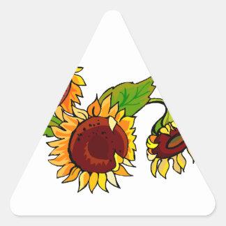 Sunflower Cluster Triangle Sticker