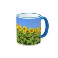 Sunflower Coffee Cup Ringer Coffee Mug
