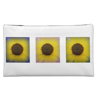 Sunflower Collage Cosmetic Bags