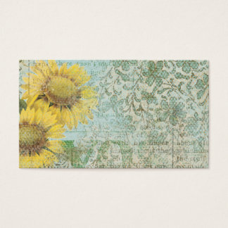 Sunflower Collage Business Card