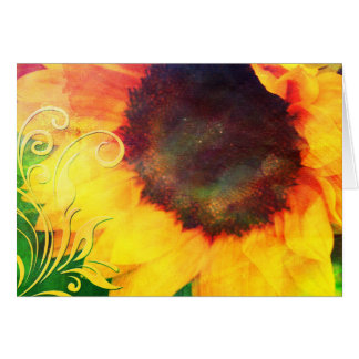 Sunflower collage greeting card