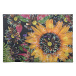 Sunflower collage place mat