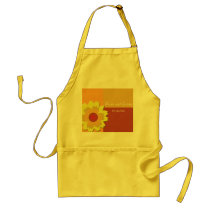 Sunflower Color Block Wedding Adult Apron
