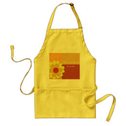 Sunflower Color Block Wedding Save the Date Adult Apron