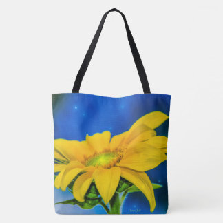 Sunflower Connections All-Over-Print Tote Bag