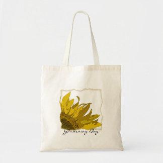 Sunflower Corner Gardening Tote Bag