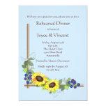 "Sunflower Corner Invitation 5"" X 7"" Invitation Card"
