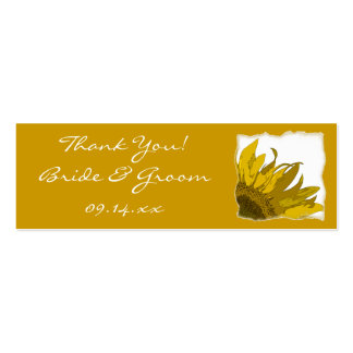 Sunflower Corner Wedding Favor Tags Double-Sided Mini Business Cards (Pack Of 20)