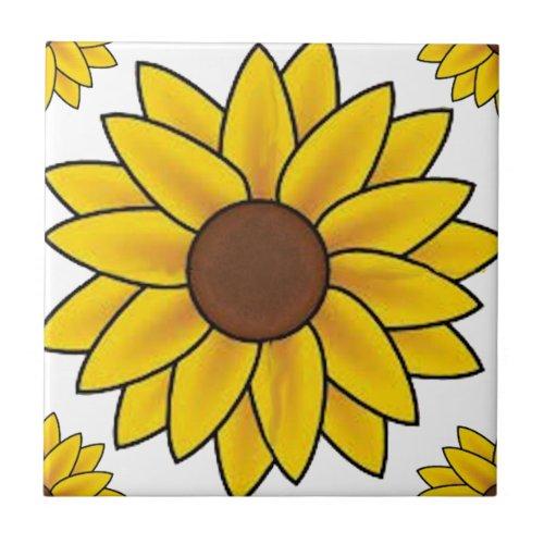 Sunflower Country Ceramic Tile