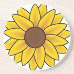 "Sunflower Country Coaster<br><div class=""desc"">Sunflower Meanings The way they move their massive heads to meet the sun make them a flower of spiritual attainment, flexibility, and opportunity. They are also symbolic of good luck, wealth and ambition. Give sunflowers away to someone who is working toward a goal and needs a big break in their...</div>"