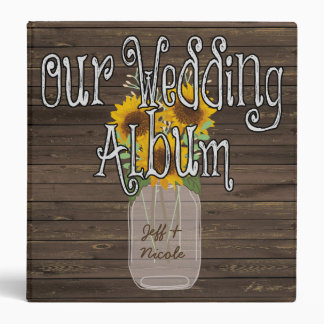 Sunflower Country Custom Wedding Photo Album Binder