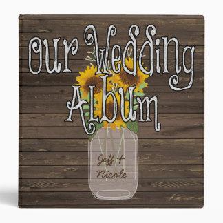 Sunflower Country Custom Wedding Photo Album Binder