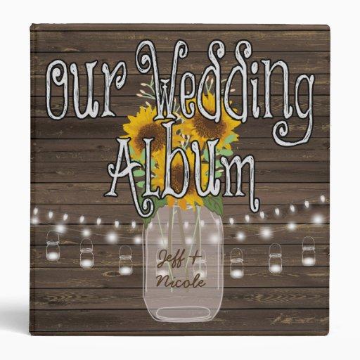 Personalised Wedding Photo Albums: Sunflower Country Custom Wedding Photo Album Binder