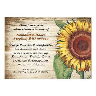 sunflower country rehearsal dinner invites