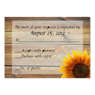 Sunflower Country RSVP card