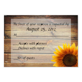 """Sunflower Country RSVP card 3.5"""" X 5"""" Invitation Card"""