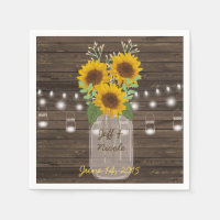 Sunflower Country Wood Mason Jar Wedding