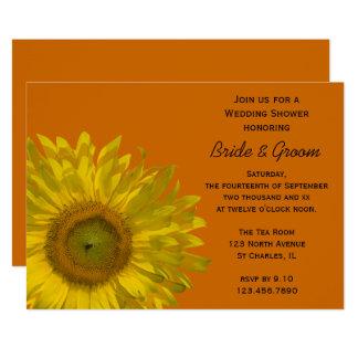 Sunflower Couples Wedding Shower Card