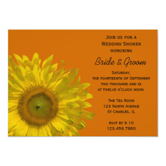 Sunflower Couples Wedding Shower Invitation